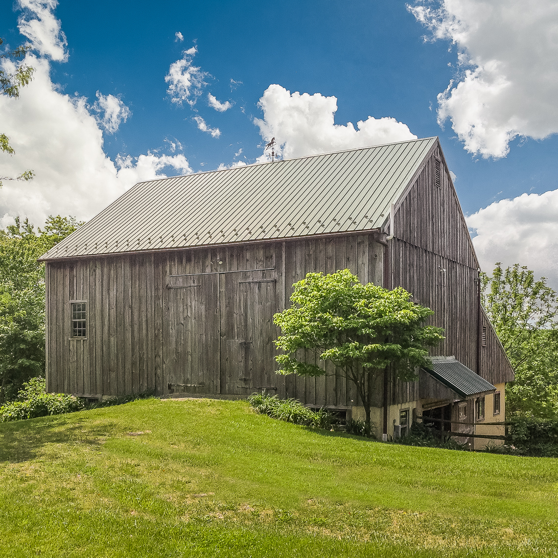 35 Fox Feather Farm — barn exterior with lower level KG-Edit-web