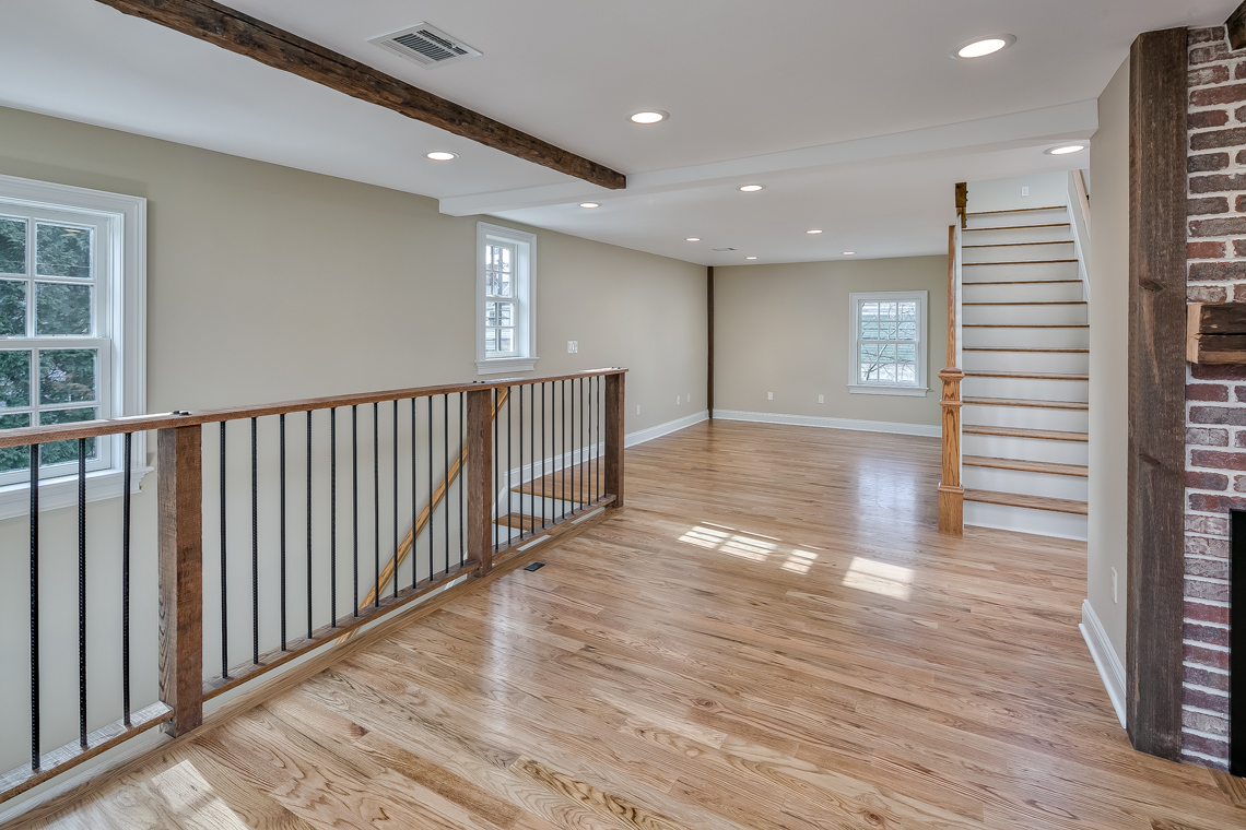 11 46 Old Turnpike Road — living room and stair long view